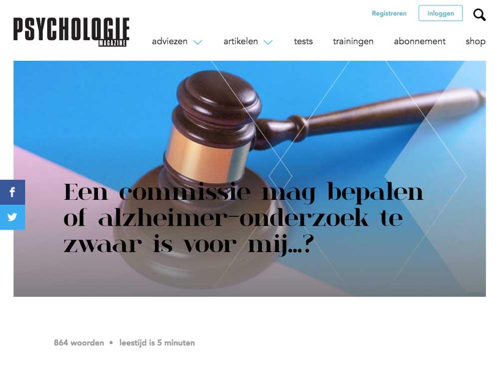 Header Psychologie Magazine In hoger beroep