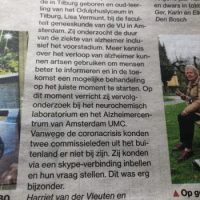 Lisa Vermunt in Brabants Dagblad